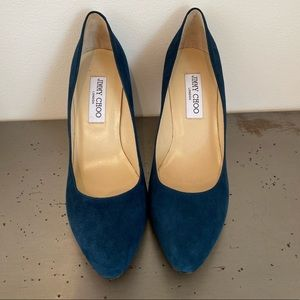 Jimmy Choo Suede Round Toe Pumps - NEW!